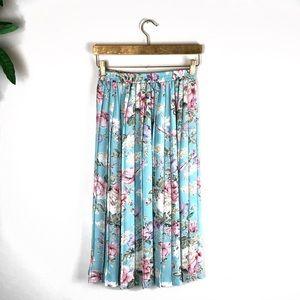 VTG Alfred Dunner • Floral Pleated Midi Skirt.